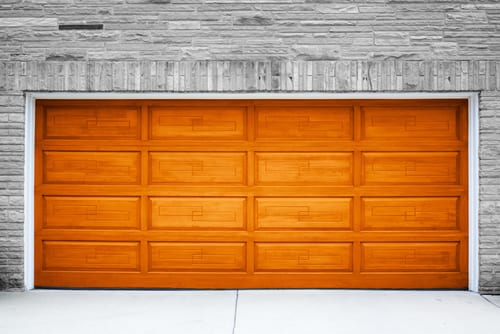 image of wooden garage door repair in las vegas