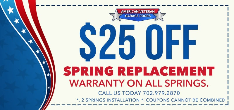 25 OFF ANY GARAGE DOOR SPRING REPLACEMENT