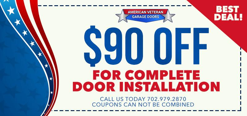 America Veteran Garage - 90% Off Complete Door Installation